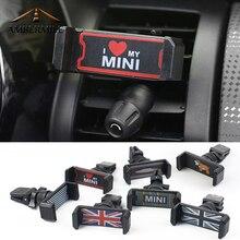 Универсальный держатель AMBERMILE для Mini Cooper, автомобильный держатель для телефона R50 R53 R55 R56 R60 R61 F54 F55 F56 F60