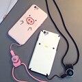Para o caso apple iphone 6 cubra com lanyrad caixa do telefone para o iphone 6 Plus Size Amantes Capa Shell Caso Casal com Cordão Cinto para i6s