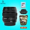 Nova yongnuo yn100mm f2 médio telefoto prime lens para canon eos rebel câmera AF MF 5D 5D 1D IV 1300D T6 760D 750D 5DS R