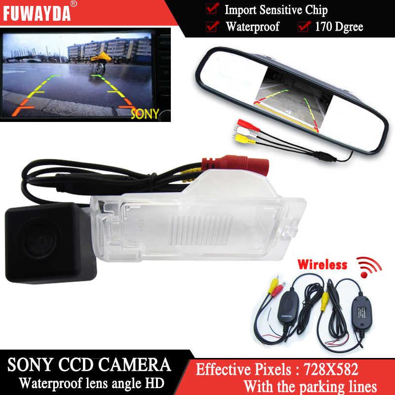 Fuwayda Màu Không Dây Sonyccd Xe Chip Camera Chiếu Hậu Dành Cho Xe Ford Edge Thoát Mercury Mariner + 4.3 Inch Gương Chiếu Hậu HD