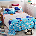 Cotton twill single student sheets single cotton printing double sheets children's bedspreads