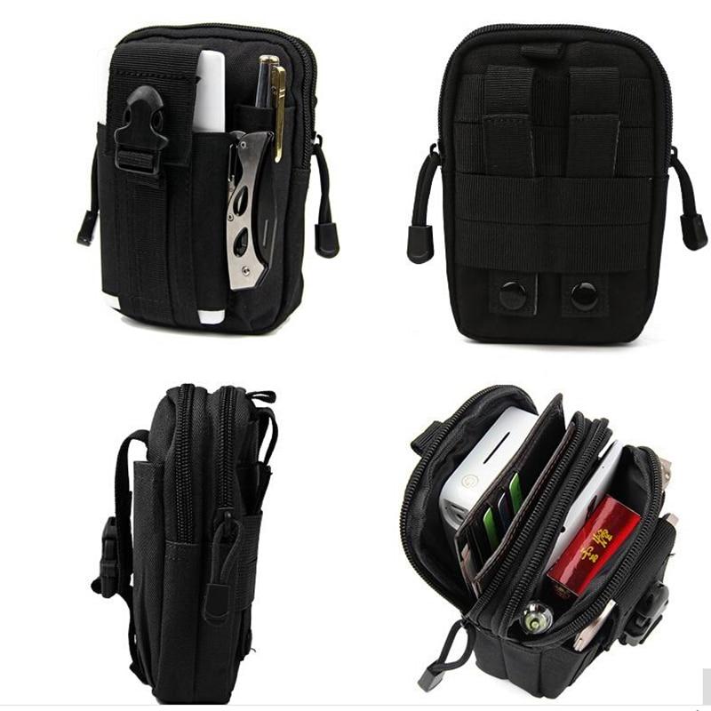 Black 3S Note 3 Pro Waist Belt Holster Case Wallet Purse Tactical Molle Pouch Utility Gadget bags For iPhone 6 6S 7 Plus gadget