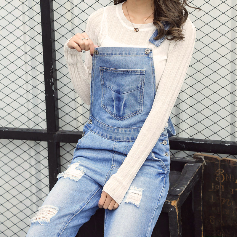 Jeans Bottoms Plus Size 5xl Casual Loose Denim Jean Bib Work Garden Pregnant Harem Overalls Jumpsuits Sleeveless Romper Ankle Length Jeans