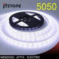 LED bande 5050 DC12V 60 LED s/m 5 m/lot Flexible lumière LED Tira décor à la maison lampe voiture lampe