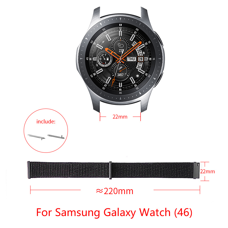 Nylon loop strap for Samsung Galaxy Watch(46) smart watch Casual style adjustable size Galaxy Watch(46) band Replacement strap