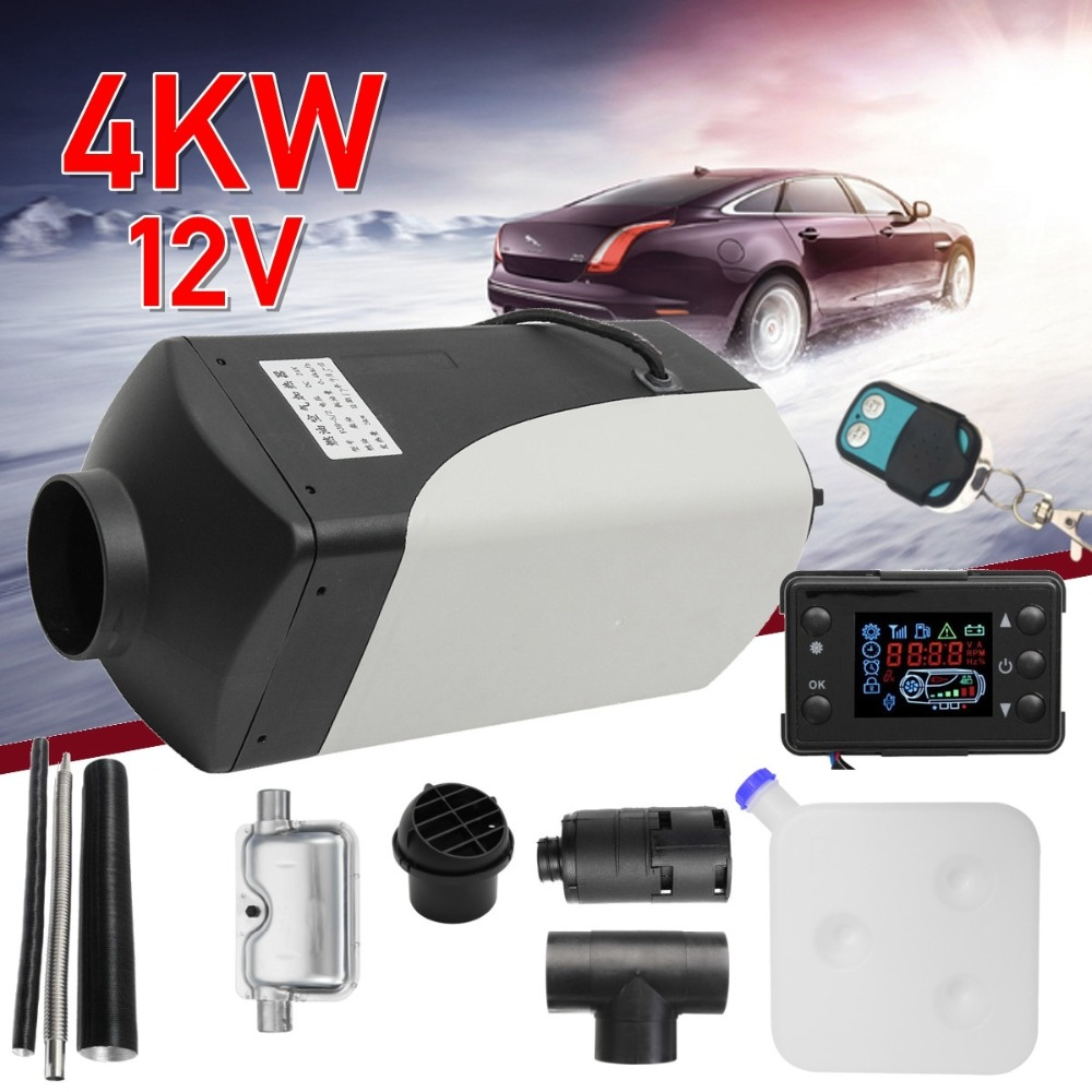 4KW 12V diesels air heater for Truck Boats caravan RV bus- To replace Eberspacher D4, s parking heater +Remote + Silencer