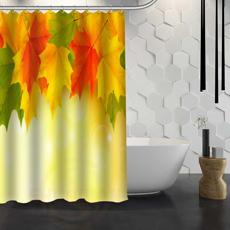 Hot Sale Custom Maple Leaves Autumn Leaves Shower Curtain Waterproof Fabric Shower  Curtain For Bathroom F#Y1 17 In Shower Curtains From Home U0026 Garden On ...
