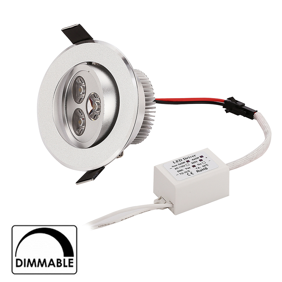 4pcs/lot 9W 12W led downlight items spot light cabinet light adjustable Dimmable 270-360lm 2 years warranty home decoration