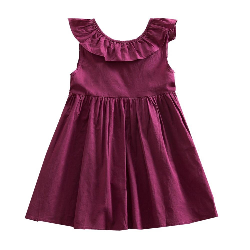 JUXINSU Toddler Summer Girls Beach Dresses Sleeveless Dress Kids dresses for Clothes 1-6 Years