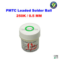 Free Shipping PMTC Leaded Solder Balls 250k 0 5 Mm For Bga Rework Reballing