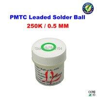 Free Shipping PMTC Leaded Solder Balls 250k 0 5 Mm For Bga Rework Reballing