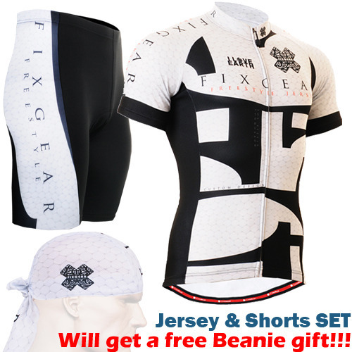 ФОТО 2016 zipper up summer cycling jersey sets breathable bike wear quality riding suits black and white short sleeve tops+shorts