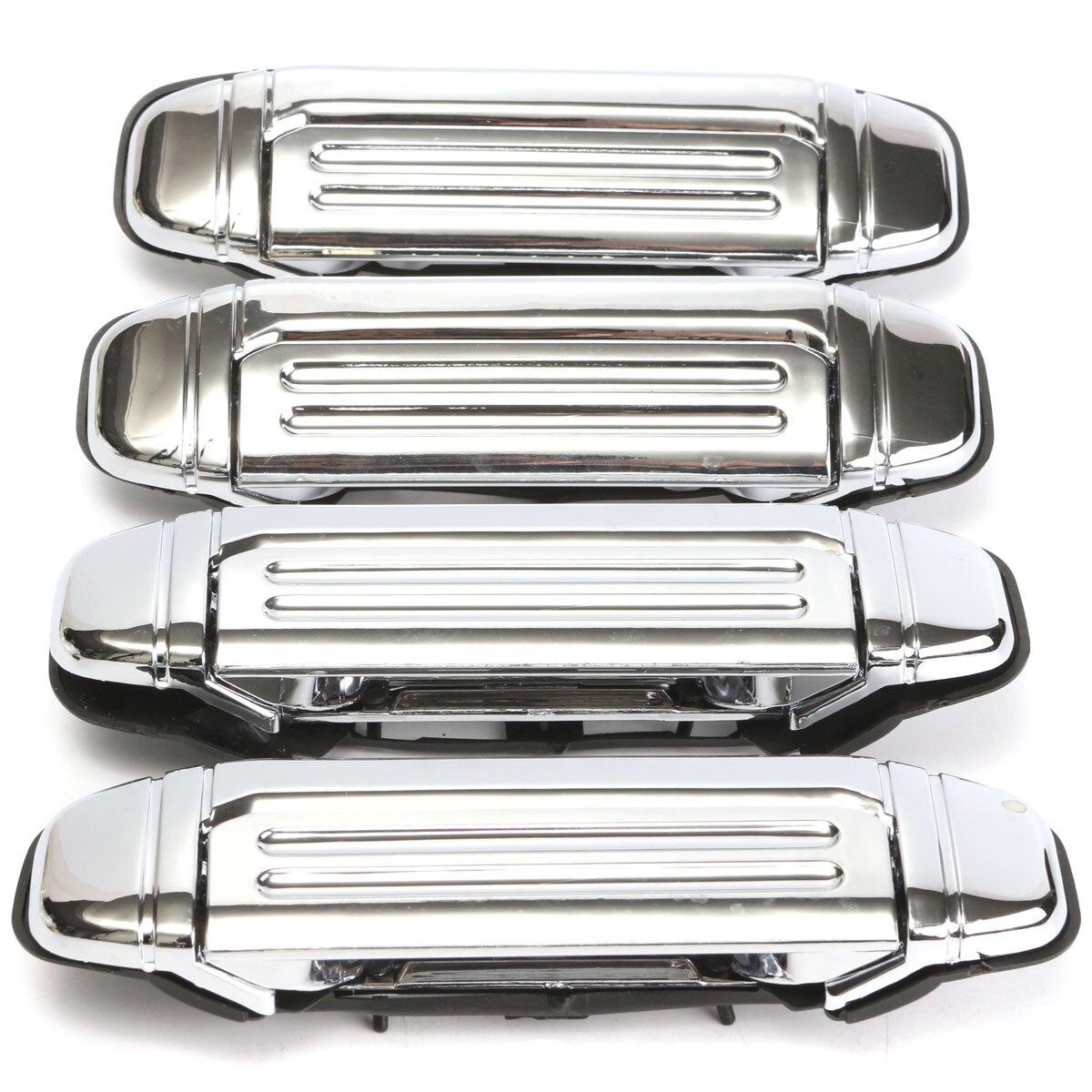 4 pièces voiture Chrome porte poignée remplacement pour Mitsubishi PAJERO 1992 1993 1994 1995 1996 1997 porte poignée voiture accessoires