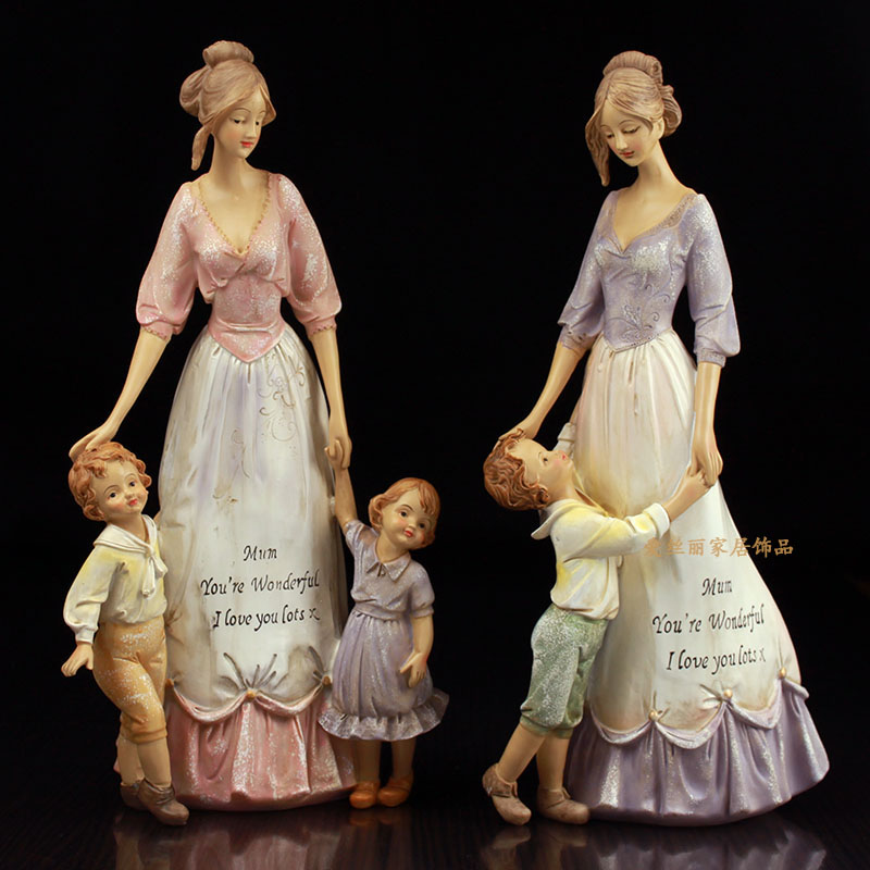 Children's Affection Mother And Child Warm Ornaments European Style Antique Gifts And Decorations