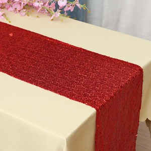 Image 2 - Sequin Table Runner Rose Gold/Navy/Pink/Red Color Luxury Style Wholesale For Wedding Hotel Dinner Party Decoration