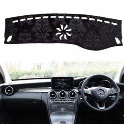 Flanelowe Dashmat pokrywa deski rozdzielczej Dash Pad samochodu mata dywan dla Mercedes-Benz GLC klasy GLC200 GLC250 GLC300 GLC220 2015-2018 RHD