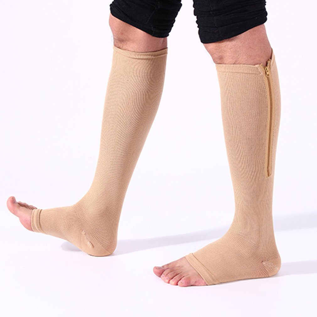 3 Pairs Unisex Elastic Compression Socks Anti-fatigue Men Socks Boost Blood Circulation Leg Slimming Complete In Specifications Men's Socks