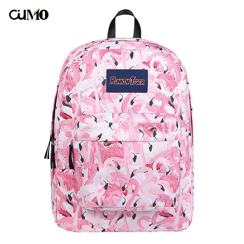Ou Mo brand ins Flamingo Mini Bag teenagers Boys/Girls Schoolbag laptop anti theft backpack feminina Women man