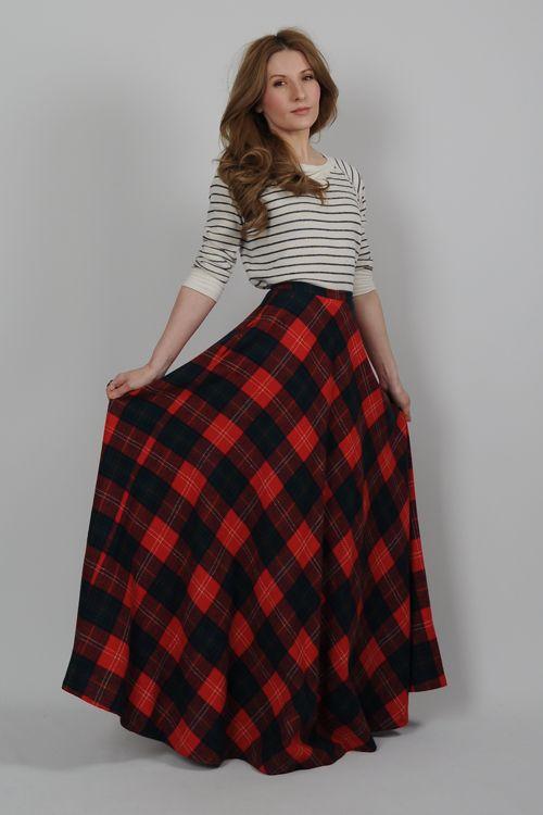 High Waisted Floral Maxi Skirt - Skirts