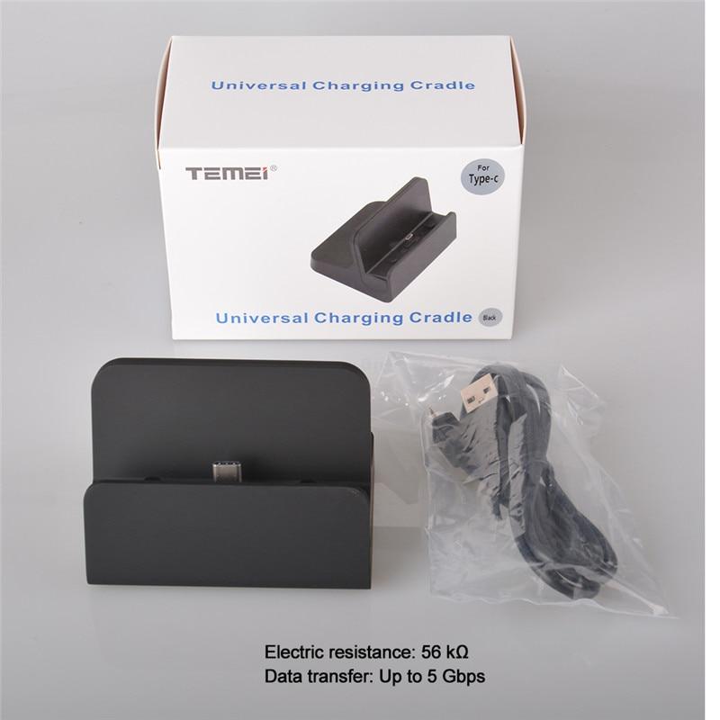 Qosea USB 3.1 Type-C laddningsstationhållare Type-C laddningsvagga - Reservdelar och tillbehör för mobiltelefoner - Foto 6