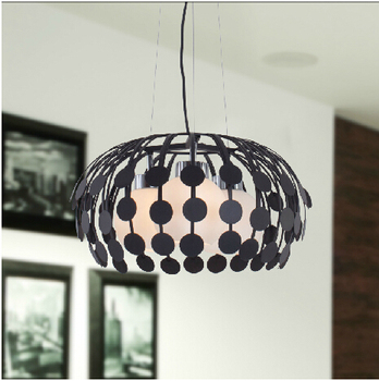Royal droplight iron Modern Three heads creative Flower pendant lighting glass shades Iron hanging lights for dining room