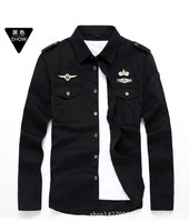 Cotton Long Sleeved Shirts Uniforms Casual Washing Outdoor Men S Shirts Wholesale Manufacturers On Behalf