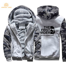 Star Wars The First Order Never Stop Exploding Planets Movie Hoodies Men 2019 Autumn Winter Thick Camouflage Mens Casual Jacket