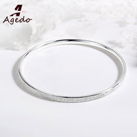 Authentic 925 Sterling Silver Bracelets For Women Luxury Brand Classic Top Quality Austria Crystal Luxury Bangle Bracele