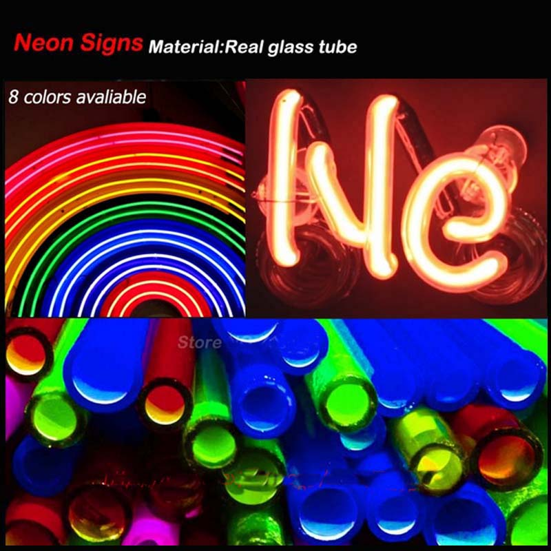 Neon Sign Food To Go Handmade Real Glass Tube Free Design Neon Bulbs Neon Light Sign Advertise Lamp Bright Store Display 17x14