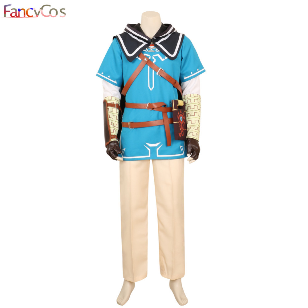 Halloween The Legend of Zelda Breath of the Wild Link Outfit Uniform Cosplay Costume Game Anime Japanese