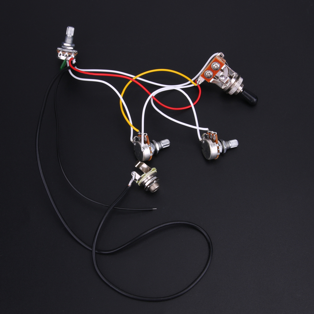 New Guitar Wiring Harness Prewired With 2v 1t 3 Way Switchs And A Gibson Plate 1 X For Lp