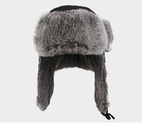 High Quality Mens 100% Real Rabbit Fur Winter Hats With Ear Flaps Outdoor Warm Snow Caps Russian Hat Bomber Cap For Women W00256