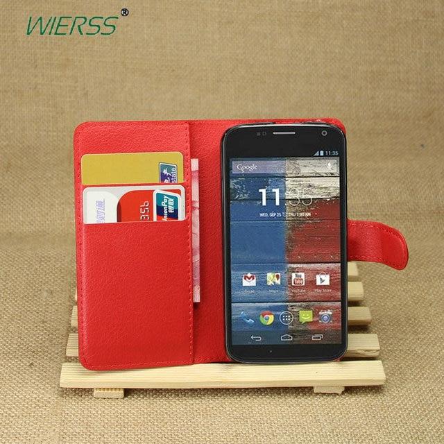 Wallet Flip Leather Case For Motorola Moto X XT1055 XT1056 XT1058 XT1060 XT1052 phone Leather back Cover case with Stand Etui>