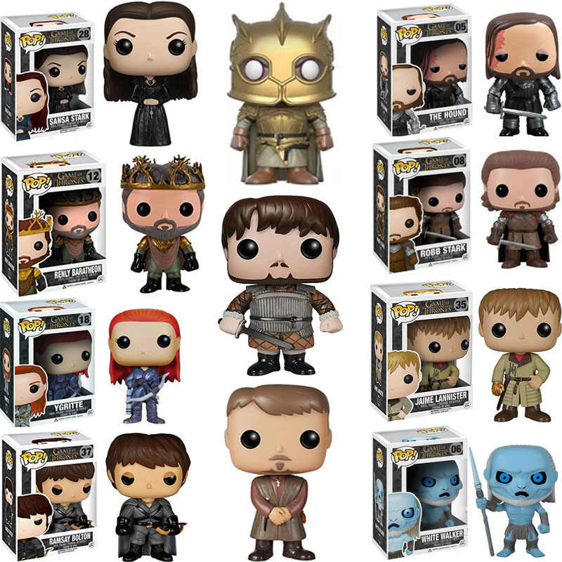 FUNKO POP NEW Game of Thrones JON SNOW DAENERYS HOUND JAIME LANNISTER MOUNTAIN SANSA Figure Collection Giocattoli di Modello per I Bambini regalo
