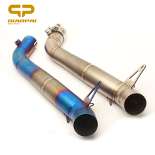 Motorcycle Exhaust Link Pipe Muffler 51MM Motorbike Middle Link Pipe Escape Moto Stainless Steel For CBR1000RR CBR1000 2008-2016