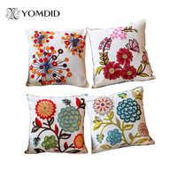 Quente novo estilo nacional sofá/carcoxins flores e moda travesseiros decorar mão-bordado almofadas