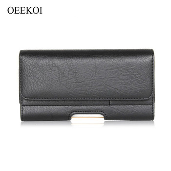 OEEKOI Stone Pattern PU Leather Waist Bag Belt lip Pocket Pouc600/h Phone Holster Case for Overmax Vertis 6010 Aim/Vertis Mile image