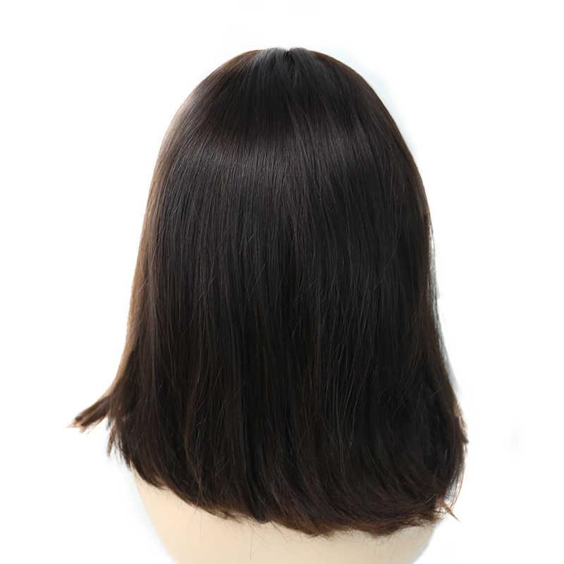 Yahudi peruğu Koşer Peruk Avrupa Bakire Saç Ipek Üst Düz % 100% Insan Saçı 130% Yoğunluk Dolago Saç Çift Çekilmiş