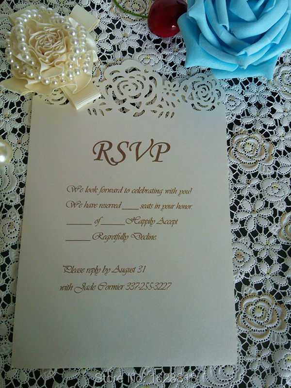 party/banquet/wedding invitation reply card, response card printed ...