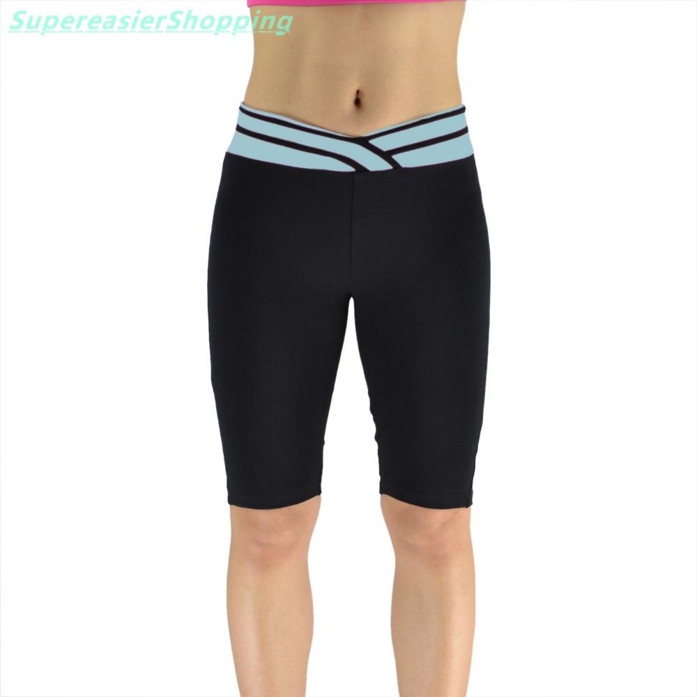 5pcs/lot Fashion Women Sweatpants Shorts Sexy V Waist Knee