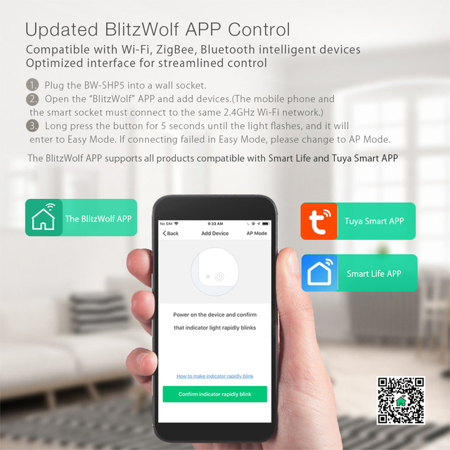 BlitzWolf-BW-SHP5-WIFI-inteligente-del-z-calo-de-la-UE-2-1A-Dual-puertos-USB