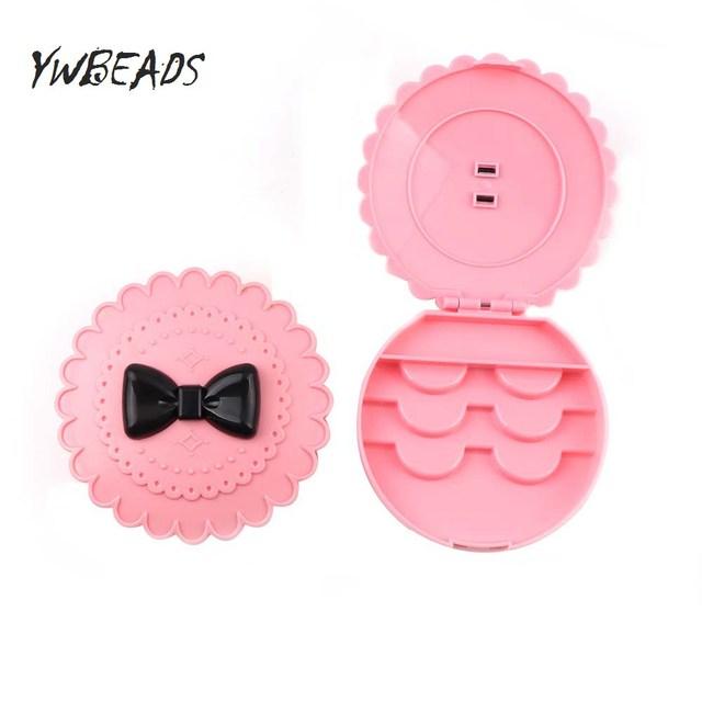 4e35af7eb4 1PC False Eyelash Acrylic Cute Bowknot Storage Box Makeup Cosmetic Magnetic  Eye Lashes Case Organizer Makeup Tools Pink