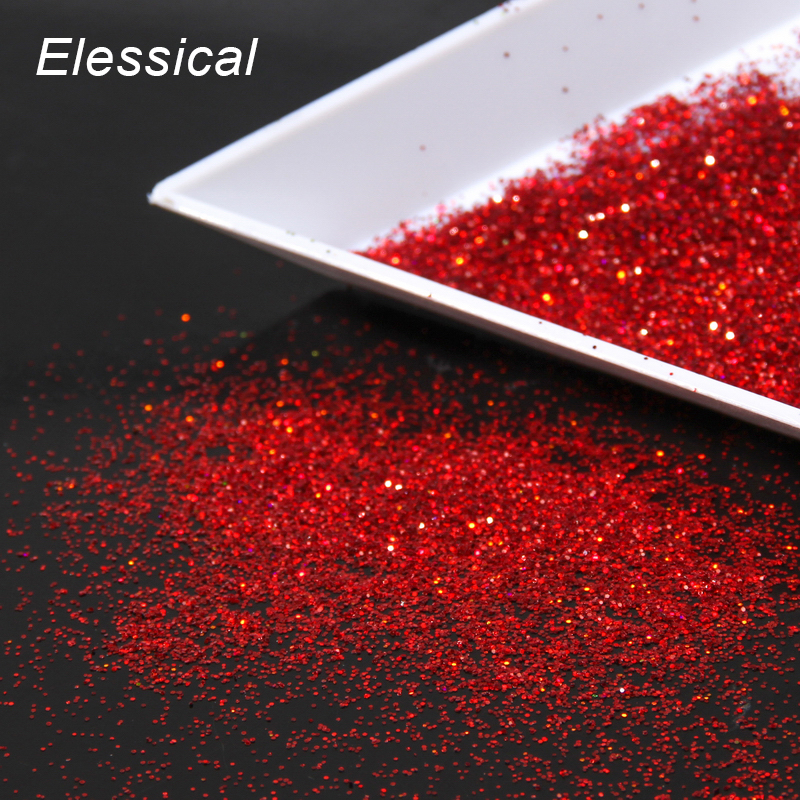 Red Color Nail Glitter Powder Dust Universe Women Nail Decals Holographic Nail Art Styling Tools Retail WY535