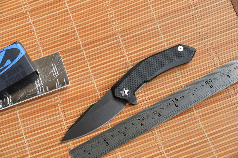 Fule 0095BW 9Cr18MoV blade G10 handle steel ball Bearing folding font b knife b font camping