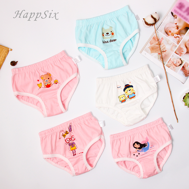 4pieces/lot Baby Underwear Girls Brief Cotton four seasons underwear Newborn Baby Underpanties 0-2Years Todder Clothes