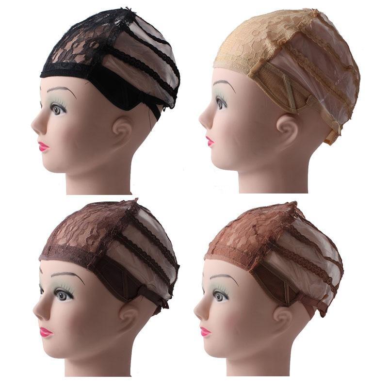 10 Pcs Lot Wig Caps For Making Wigs Adjustable Straps Back