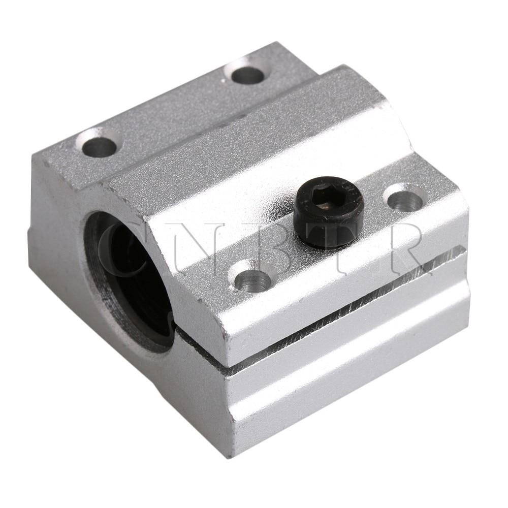 CNBTR 8mm Bearing Steel Aluminum SC8AJ Adjustable Linear Ball Bearing Block Linear Motion Machinery Slide Bushing for CNC