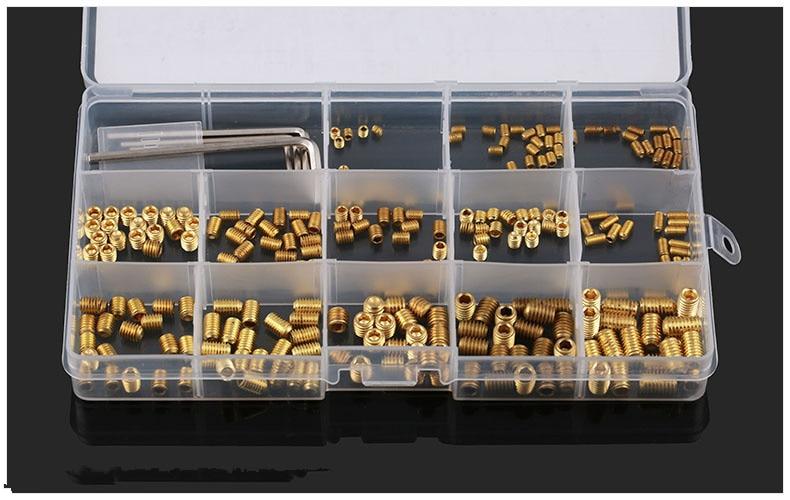 260pcs/pcs DIN916 brass set screws Concave hex socket Chimi screws M3 M4 M5 M6 screw headless Top wire machine screw 158mm losmandy dovetail clamp with brass screw and 2 locking screws