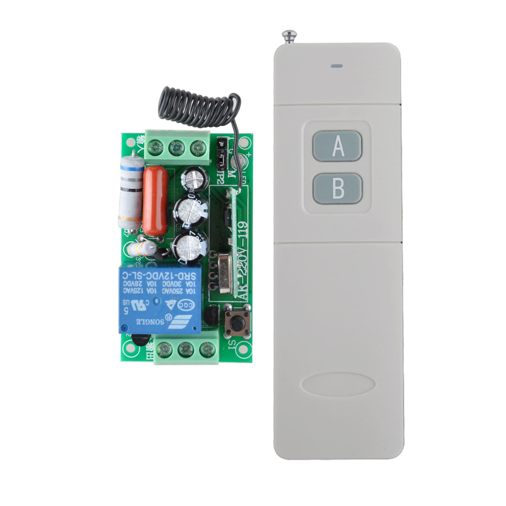 AC 220 V 1CH 10A Relay RF Wireless Remote Control Switch Wireless Light Switch High Quality Receiver + 200M-3000M Transmitter high quality 1 2 3 channel wireless remote control switch digital remote control switch receiver transmitter