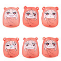 2016 New Sankaku Head Himouto Umaru Chan Umaru Doma Cosplay MARMOT Short Velvet Puppets And Humanoid Toys For Children